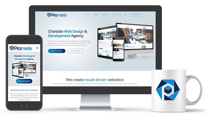 Promerix Charlotte Website Design
